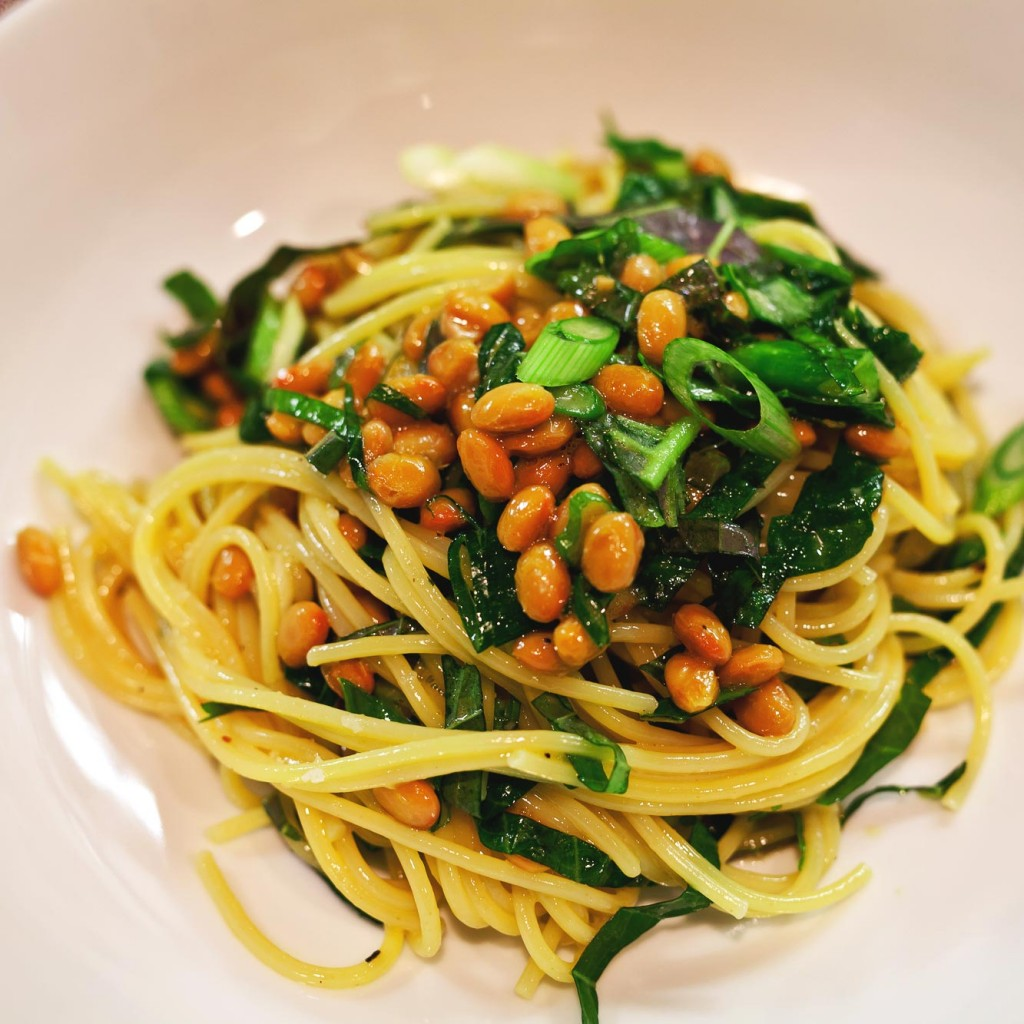 how to cook natto spaghetti