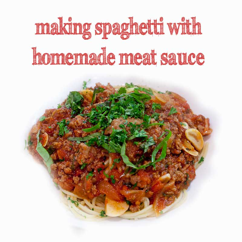 SFFOOD | How to Make Homemade Meat Sauce for Spaghetti (Recipe)