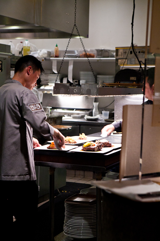 The kitchen at 5a5 Steakhouse
