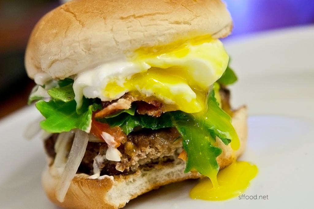 homemade poached egg burger recipe