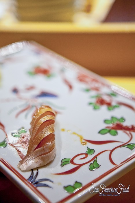 Sea Bream Sushi at Omakase