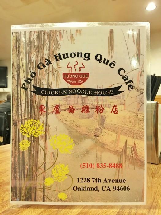 Pho Ga Huong Que Cafe Menu