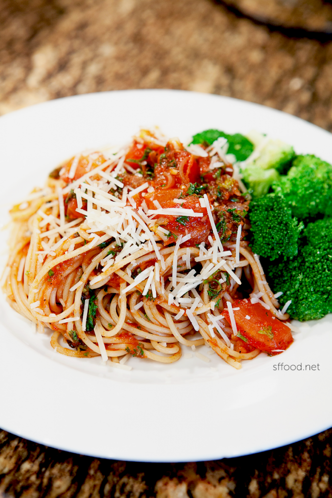 No meat yet so tasty vegetarian vegetable spaghetti recipe san vegetarian spaghetti recipe forumfinder Gallery