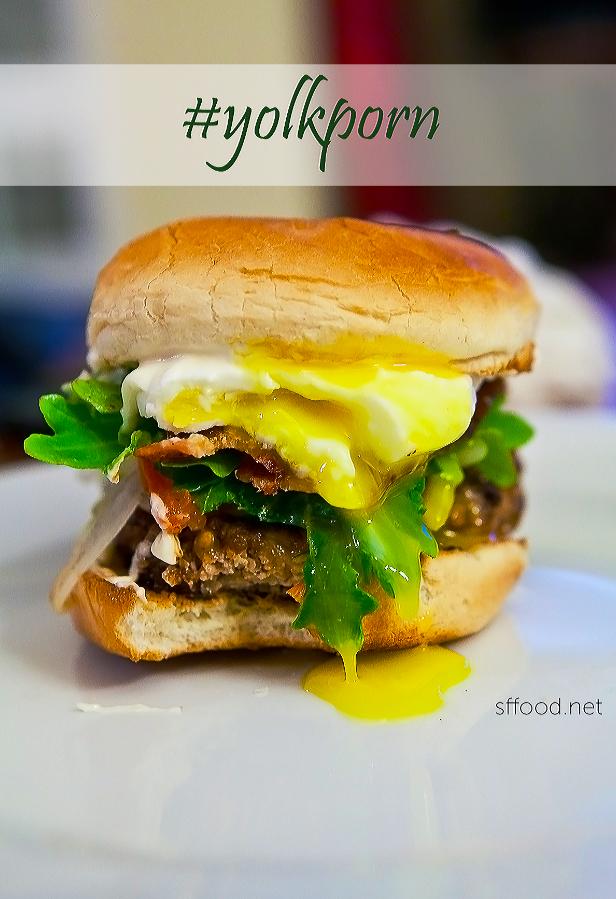 Poached Egg Juicy Burger Recipe